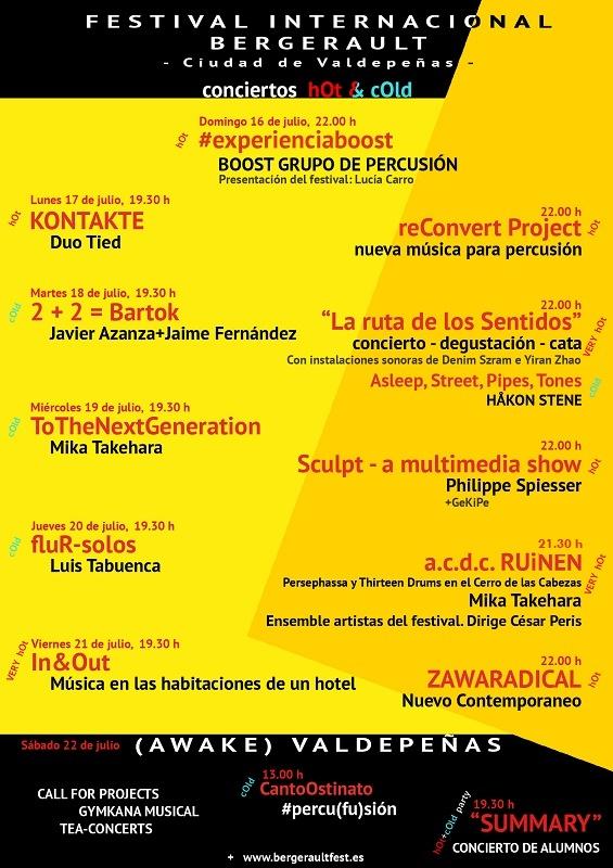 Conciertos Festival Internacional Bergerault Ciudad de Valdepeñas
