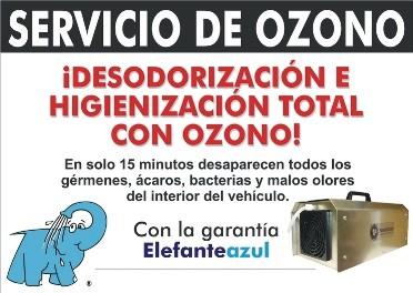 Servicio de Higienización y Desodorización en Elefante Azul Valdepeñas.