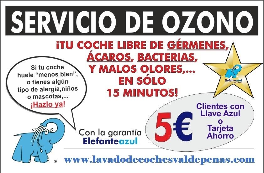 promoción servicio ozono en Elefante Azul Valdepeñas