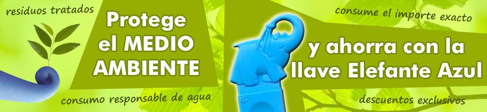 Usando la Llave Elefante Azul contribuyes con el cuidado del Medio Ambiente