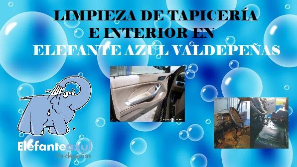 Elefante Azul Valdepeñas - Limpieza interior y tapicerías - Centro de lavado de coches Elefante Azul Valdepeñas