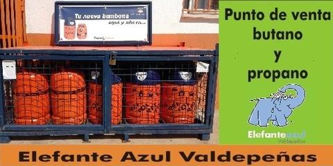 Elefante Azul Valdepeñas - Punto de venta de butano y propano - Centro de lavado de coches Elefante Azul Valdepeñas