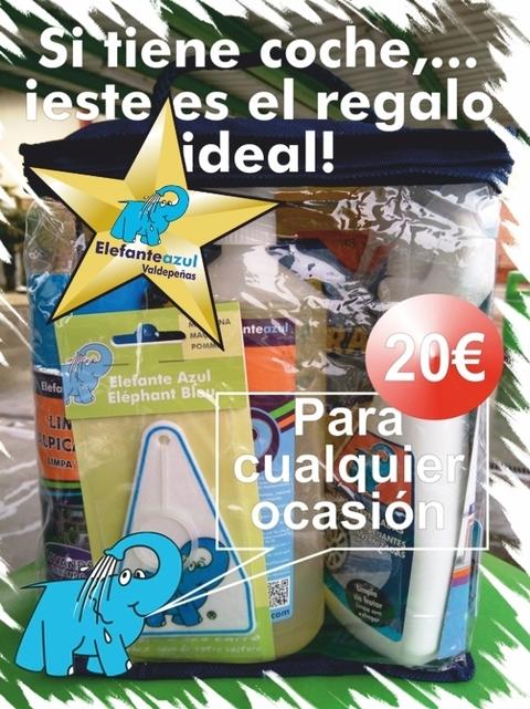Elefante Azul Valdepeñas - Lote de productos Elefante Azul - Centro de lavado de coches Elefante Azul Valdepeñas