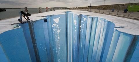 Elefante Azul Valdepeñas - Espectacular dibujo 3D  - Centro de lavado de coches Elefante Azul Valdepeñas