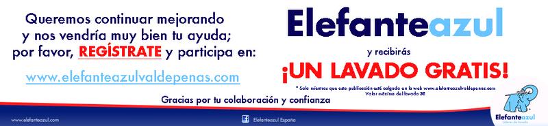 Elefante Azul Valdepeñas -  Registro clientes - Centro de lavado de coches Elefante Azul Valdepeñas